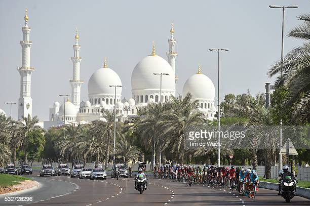 1th Abu Dhabi Tour 2015 / Stage 2 Illustration Illustratie / Peleton Peloton / Sheikh Zayed Grand Mosque / Landscape Paysage Landschap / Yas Marina...