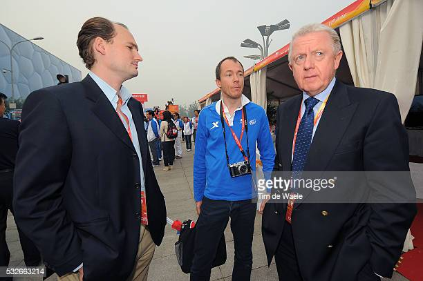 1th Tour Beijing 2011 / Stage 5 Hein VERBRUGGEN / Alain RUMPF UCI / JeanEtienne AMAURY ASO President / Tian An Men Square Birds Nest Olympic Stadium...