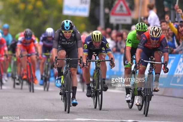 22nd Gran Premio Bruno Beghelli 2017 Arrival / Sprint / Elia VIVIANI / Michael ALBASINI / Alberto BETTIOL / Sonny COLBRELLI / Monteveglio Valsamoggia...