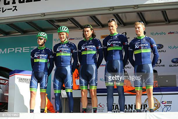 25th Japan Cup Cycle Road Race 2016 Start / Podium / Team ORICA BIKEEXCHANGE / Mathew HAYMAN / Christopher JUUL JENSEN / Robert POWER / Christian...