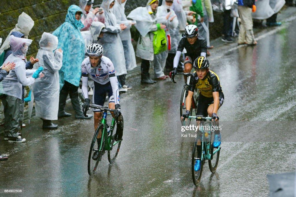 26th Japan Cup 2017 Cycle Road Race 2017 Antwan TOLHOEK (NED)/ Sho HATSUYAMA (JPN)/ Thomas LEBAS (FRA)/ Utsunomiya - Utsunomiya (144,2km)/ Race shortened due to bad weather / Utsunomiya - Utsunomiya (103km)/ Japan Cup /