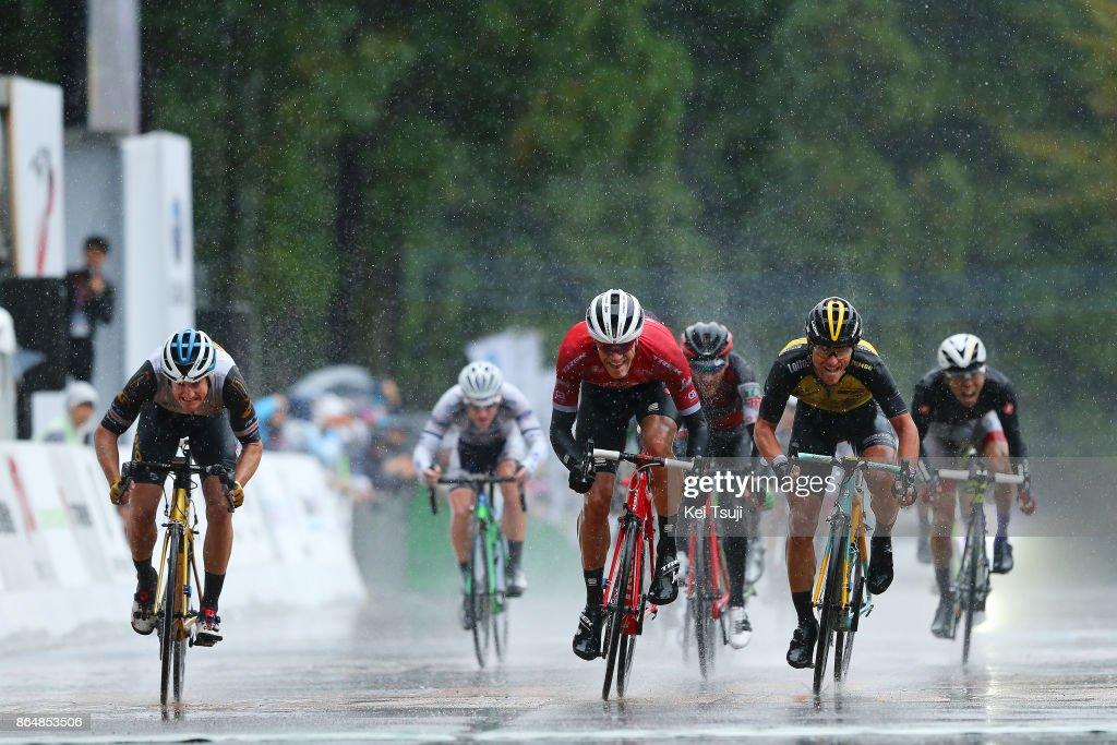26th Japan Cup 2017 Cycle Road Race 2017 Arrival / Sprint / Jasper STUYVEN (BEL)/ Enrico BATTAGLIN (ITA)/ Benjamin HILL (AUS)/ Utsunomiya - Utsunomiya (144,2km)/ Race shortened due to bad weather / Utsunomiya - Utsunomiya (103km)/ Japan Cup /