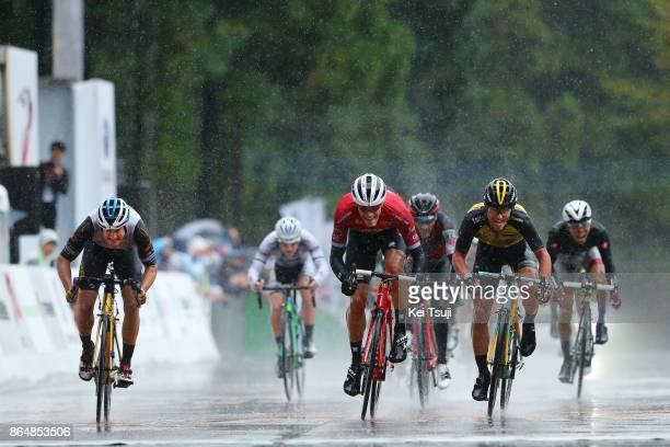 26th Japan Cup 2017 Cycle Road Race 2017 Arrival / Sprint / Jasper STUYVEN / Enrico BATTAGLIN / Benjamin HILL / Utsunomiya Utsunomiya / Race...