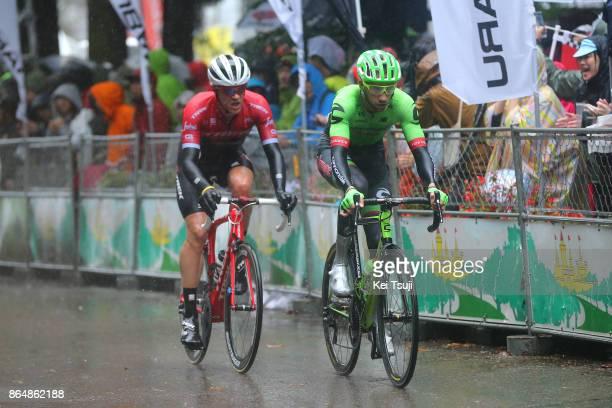 26th Japan Cup 2017 Cycle Road Race 2017 Davide VILLELLA / Jasper STUYVEN / Utsunomiya Utsunomiya / Race shortened due to bad weather / Utsunomiya...