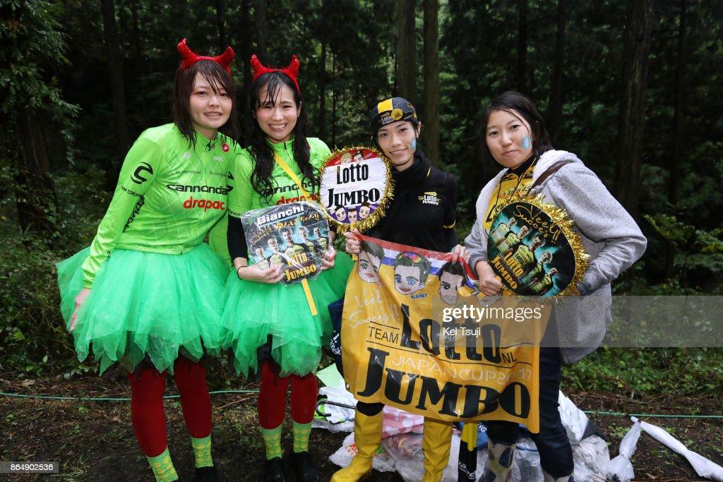 26th Japan Cup 2017 Cycle Road Race 2017 Fans / Team Cannondale-Drapac Pro Cycling (USA)/ Team Lotto NL - Jumbo (NED)/ Utsunomiya - Utsunomiya (144,2km)/ Race shortened due to bad weather / Utsunomiya - Utsunomiya (103km)/ Japan Cup /