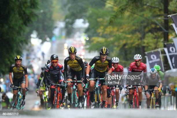 26th Japan Cup 2017 Cycle Road Race 2017 Peloton / Koen DE KORT / Enrico BATTAGLIN / Alexey VERMEULEN / Juan Jose LOBATO DEL VALLE / Hideto NAKANE /...