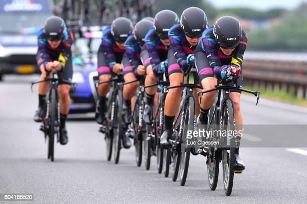 28th Tour of Italy 2017 / Women / Stage 1 Team Canyon SRAM Racing / Tiffany CROMWELL / Hannah BARNES / Elena CECCHINI / Barbara GUARISCHI / Alexis...