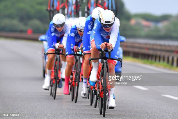 28th Tour of Italy 2017 / Women / Stage 1 Team FDJ Nouvelle Aquitaine Futuroscope / Aude BIANNIC / Charlotte BRAVARD / Roxane FOURNIER / Shara GILLOW...