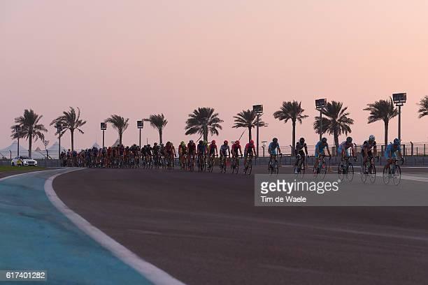 2nd Abu Dhabi Tour 2016 / Stage 4 Yas Marina Circuit / Peloton / Landscape / Palmtree/ Yas Marina Circuit Yas Marina Circuit / The Yas Island Stage /...