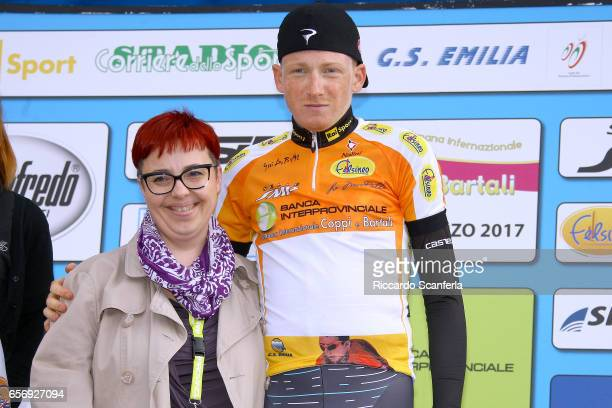 Cycling 32nd Settimana Internazionale Coppi e Bartali 2017 / Stage 1b Podium / Tao GEOGHEGAN HART Orange Best Young Jersey Celebration / Gatteo a...
