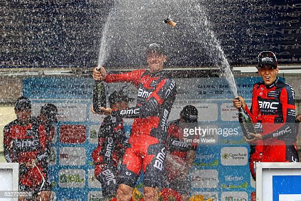 38th Giro Del Trentino/ Stage 1 Podium/ Team BMC Racing Team / Daniel OSS / Cadel EVANS / Brent BOOKWALTER / Sebastian LANDER / Rick ZABEL / Yannick...