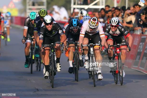 3rd Abu Dhabi Tour 2017 / Stage 1 Arrival / Sprint / Mark CAVENDISH Celebration / Andre GREIPEL / Niccolo BONIFAZIO / Simone CONSONNI / Elia VIVIANI...