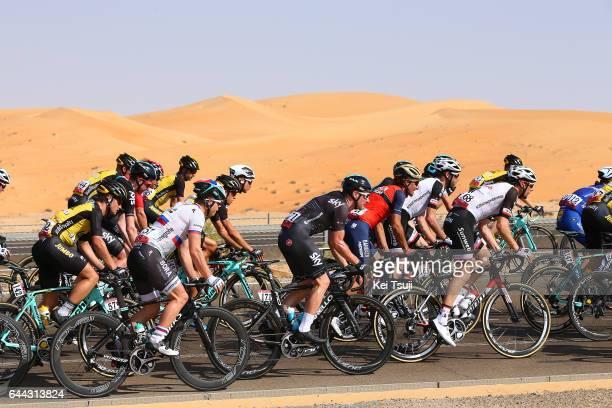 3rd Abu Dhabi Tour 2017 / Stage 1 Elia VIVIANI / Baynounah Educational Complex Madinat Zayed/ Ride to Abu Dhabi / Emirates Motor Company Stage /
