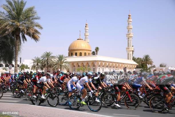 3rd Abu Dhabi Tour 2017 / Stage 1 Mosque / Peloton / Baynounah Educational Complex Madinat Zayed/ Ride to Abu Dhabi / Emirates Motor Company Stage /