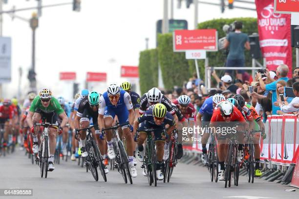 3rd Abu Dhabi Tour 2017 / Stage 2 Arrival / Caleb EWAN / Marcel KITTEL / Mark CAVENDISH Red Leader Jersey / Phil BAUHAUS / Andre GREIPEL Green Point...