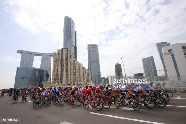 3rd Abu Dhabi Tour 2017 / Stage 2 Peloton / Abu Dhabi City / Abu DhabiAl Maryah Island Abu DhabiBig Flag / Ride to Abu Dhabi / Nation Towers Stage /