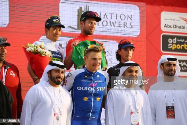 3rd Abu Dhabi Tour 2017 / Stage 2 Podium / Marcel KITTEL / Caleb EWAN White Young Rider Jersey / Marco CANOLA Black Sprint Jersey / Mark CAVENDISH...