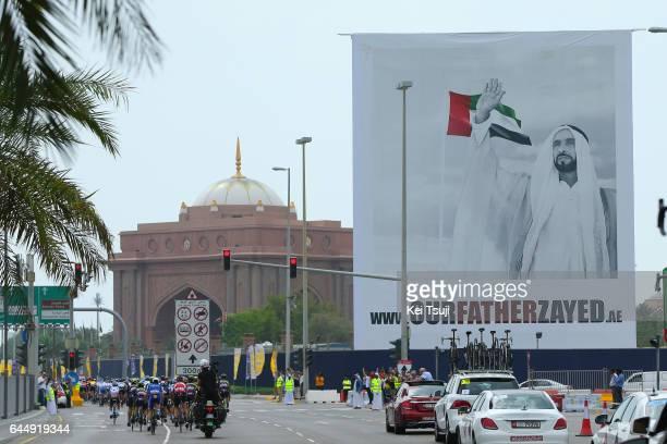 3rd Abu Dhabi Tour 2017 / Stage 2 Portrait of Zayed bin Sultan Al Nahyan Founder of United Arab Emirates / Abu DhabiAl Maryah Island Abu DhabiBig...