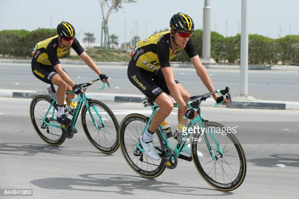 3rd Abu Dhabi Tour 2017 / Stage 2 Robert GESINK / BertJan LINDEMAN / Abu DhabiAl Maryah Island Abu DhabiBig Flag / Ride to Abu Dhabi / Nation Towers...