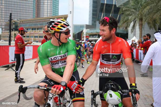 3rd Abu Dhabi Tour 2017 / Stage 2 Start / Andre GREIPEL Green Point Jersey / Mark CAVENDISH Red Leader Jersey / Abu DhabiAl Maryah Island Abu...