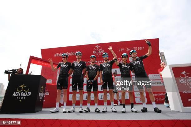 3rd Abu Dhabi Tour 2017 / Stage 2 Start / Jonathan DIBBEN / Owain DOULL / Tao GEOGHEGAN HART / Peter KENNAUGH / Elia VIVIANI / Kenny ELISSONDE / Abu...
