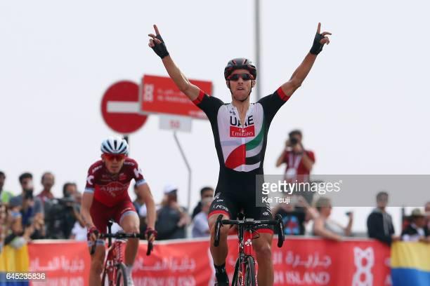 3rd Abu Dhabi Tour 2017 / Stage 3 Arrival / Rui COSTA Celebration / Ilnur ZAKARIN / Hazza Bin Zayed Stadium Jebel Hafeet 1025m / Ride to Abu Dhabi /...
