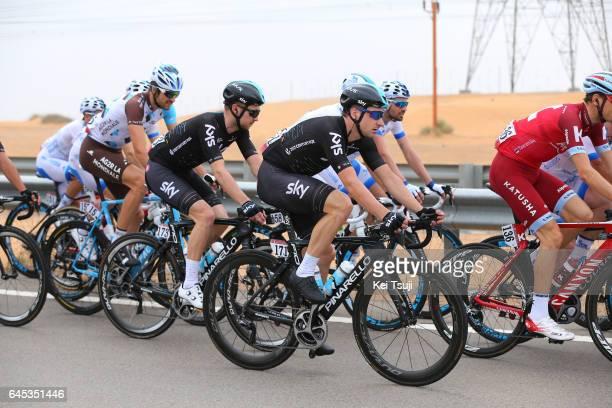 3rd Abu Dhabi Tour 2017 / Stage 3 Elia VIVIANI / Owain DOULL / Hazza Bin Zayed Stadium Jebel Hafeet 1025m / Ride to Abu Dhabi / Al Maryah Island...