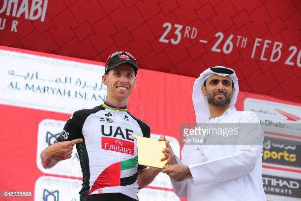 3rd Abu Dhabi Tour 2017 / Stage 3 Podium / Rui COSTA Celebration / Hazza Bin Zayed Stadium Jebel Hafeet 1025m / Ride to Abu Dhabi / Al Maryah Island...
