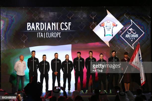 3rd Abu Dhabi Tour 2017 / Teams Presentation Team Bardiani CSF / Stefano PIRAZZI / Simone ANDREETTA / Nicola BOEM / Mirco MAESTRI / Nicola RUFFONI /...
