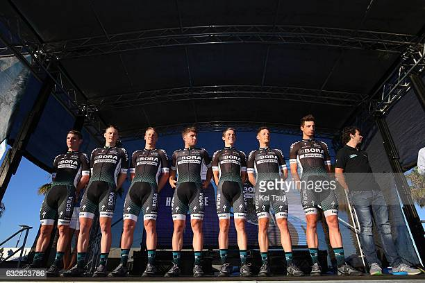 3rd Cadel Evans Great Ocean Road Race 2017 / Teams Presentation Team Bora Hansgrohe / Pascal ACKERMANN / Sam BENNET / Gregor MUHLBERGER / Rudiger...