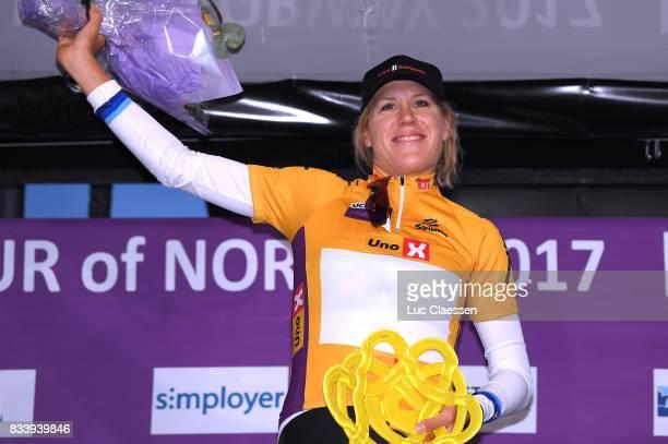 3rd Ladies Tour Of Norway 2017 / Prologue Podium / Ellen VAN DIJK Yellow leaders jersey Celebration / Halden Halden / Individual Time Trial / ITT /...