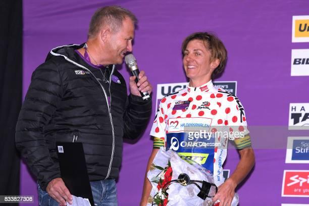 3rd Ladies Tour Of Norway 2017 / Prologue Podium / Katrin GARFOOT Polka dot Mountain Jersey / Celebration / Halden Halden / Individual Time Trial /...