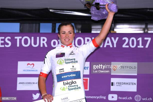 3rd Ladies Tour Of Norway 2017 / Prologue Podium / Lisa KLEIN White Best Young Rider Jersey / Celebration / Halden Halden / Individual Time Trial /...