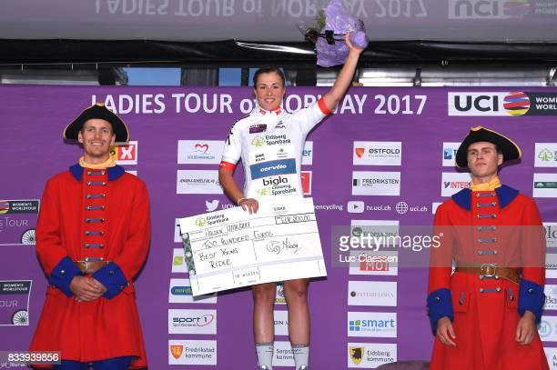 3rd Ladies Tour Of Norway 2017 / Prologue Podium / Lisa KLEIN White young rider jersey Celebration / Halden Halden / Individual Time Trial / ITT /...