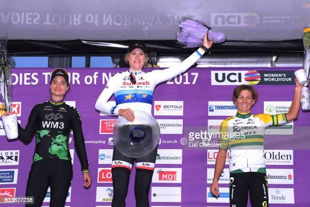 3rd Ladies Tour Of Norway 2017 / Prologue Podium / Marianne VOS / Ellen VAN DIJK / Katrin GARFOOT / Celebration / Halden Halden / Individual Time...