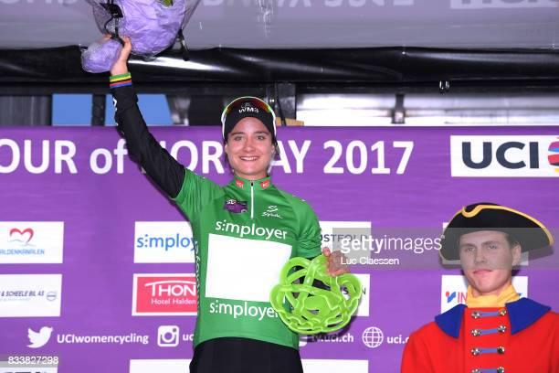 3rd Ladies Tour Of Norway 2017 / Prologue Podium / Marianne VOS Green Points Jersey / Celebration / Halden Halden / Individual Time Trial / ITT /...