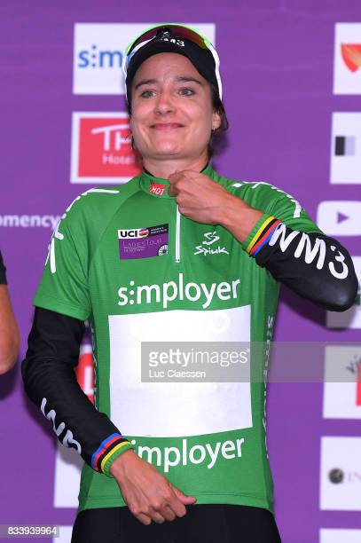 3rd Ladies Tour Of Norway 2017 / Prologue Podium / Marianne VOS Green points jersey Celebration / Halden Halden / Individual Time Trial / ITT / Women...