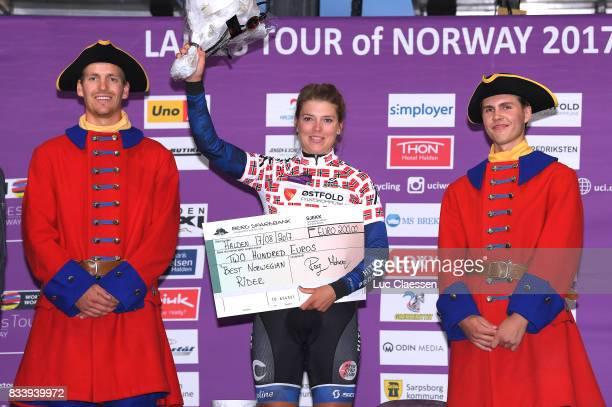 3rd Ladies Tour Of Norway 2017 / Prologue Podium / Thea THORSEN Best Norwegian rider jersey Celebration / Halden Halden / Individual Time Trial / ITT...