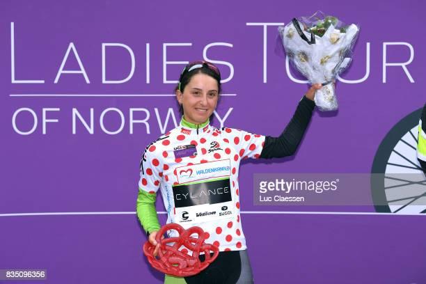 3rd Ladies Tour Of Norway 2017 / Stage 1 Podium / Rossella RATTO / Polka dot Mountain Jersey / Celebration / Halden Mysen / Women / TON /