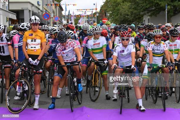 3rd Ladies Tour Of Norway 2017 / Stage 1 Start / Ellen VAN DIJK Yellow Leader Jersey / Thea THORSEN Best Norwegian Rider Jersey / Lisa KLEIN White...