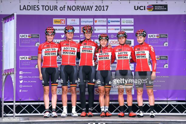 3rd Ladies Tour Of Norway 2017 / Stage 1 Start / Podium / Annelies DOM / Lotte KOPECKY / Isabelle BECKERS / Elise DELZENNE / Julie VAN DE VELDE /...
