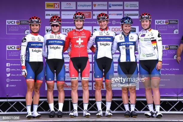 3rd Ladies Tour Of Norway 2017 / Stage 1 Start / Podium / Christina PERCHTOLD / Lotta LEPISTO / Nicole HANSELMANN / Daria PIKULIK / Clara KOPPENBURG...