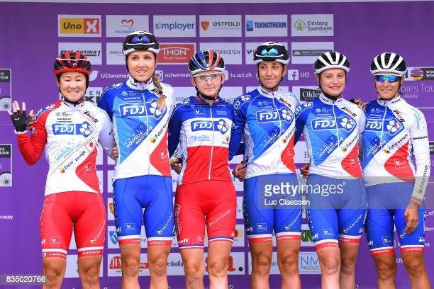 3rd Ladies Tour Of Norway 2017 / Stage 1 Start / Podium / Eri YONAMINE / Shara GILLOW / Charlotte BRAVARD / Greta RICHIOUD / Roxane KNETEMANN /...