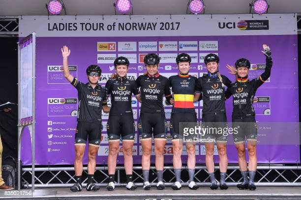 3rd Ladies Tour Of Norway 2017 / Stage 1 Start / Podium / Giorgia BRONZINI / Annette EDMONDSON / Julie LETH / Jolien DHOORE / Emilia FAHLIN / Claudia...
