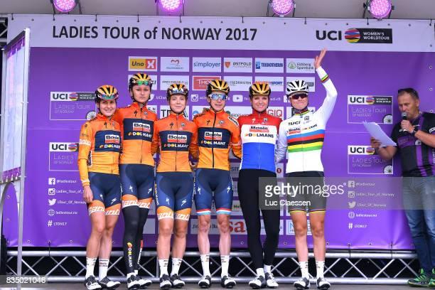 3rd Ladies Tour Of Norway 2017 / Stage 1 Start / Podium / Megan GUARNIER / Katarzyna PAWLOWSKA / Jip VAN DEN BOS / Christine MAJERUS / Chantal BLAAK...