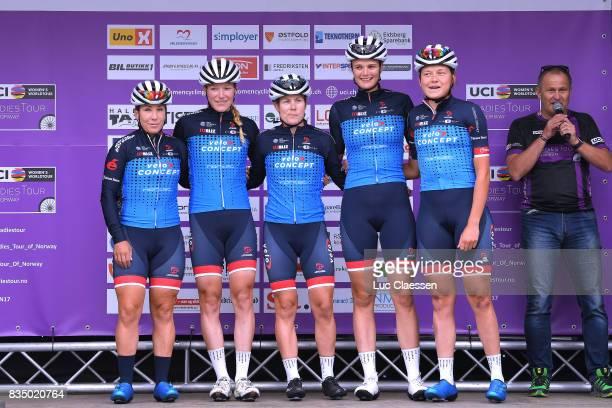 3rd Ladies Tour Of Norway 2017 / Stage 1 Start / Podium / Sara MUSTONEN / Claudia KOSTER / Linda VILLUMSEN / Christina SIGGAARD / Louise NORMAN...