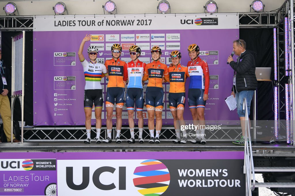 3rd Ladies Tour Of Norway 2017 / Stage 2/ Chantal BLAAK (NED)/ Amalie DIDERIKSEN (DEN)/ Jip VAN DEN BOS (NED)/ Megan GUARNIER (USA)/ Christine MAJERUS (LUX)/ Katarzyna PAWLOWSKA (CAN)/ Sarpsborg - Fredrikstad (140,4km) / Women / TON /