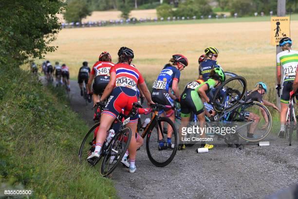 3rd Ladies Tour Of Norway 2017 / Stage 2 Crash / Julie VAN DE VELDE / Line Marie GULLIKSEN / Natalie GRINCZER / Sheyla GUTIERREZ / Sarpsborg...