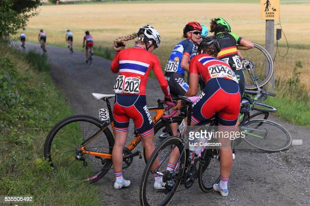 3rd Ladies Tour Of Norway 2017 / Stage 2 Crash / Stine Anderson BORGLI / Line Marie GULLIKSEN / Kirsti RUUD / Julie VAN DE VELDE / Sheyla GUTIERREZ /...