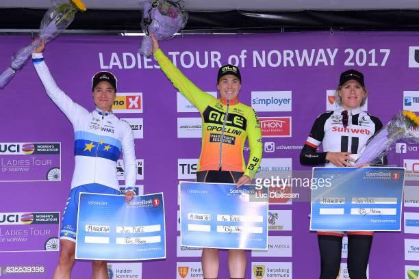 3rd Ladies Tour Of Norway 2017 / Stage 2 Podium / Marianne VOS / Chloe HOSKING / Ellen VAN DIJK / Celebration / Sarpsborg Fredrikstad / Women / TON /